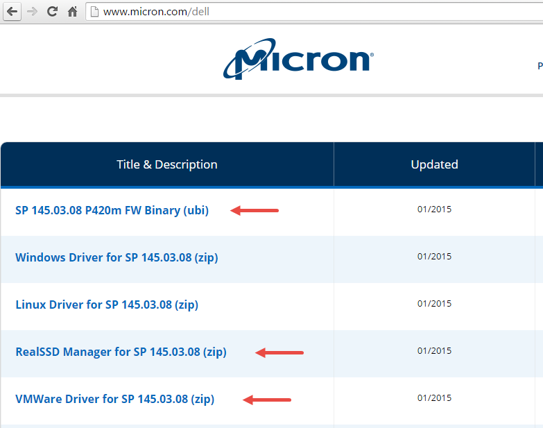 Updating firmware on Micron PCI SSD – ymmit net